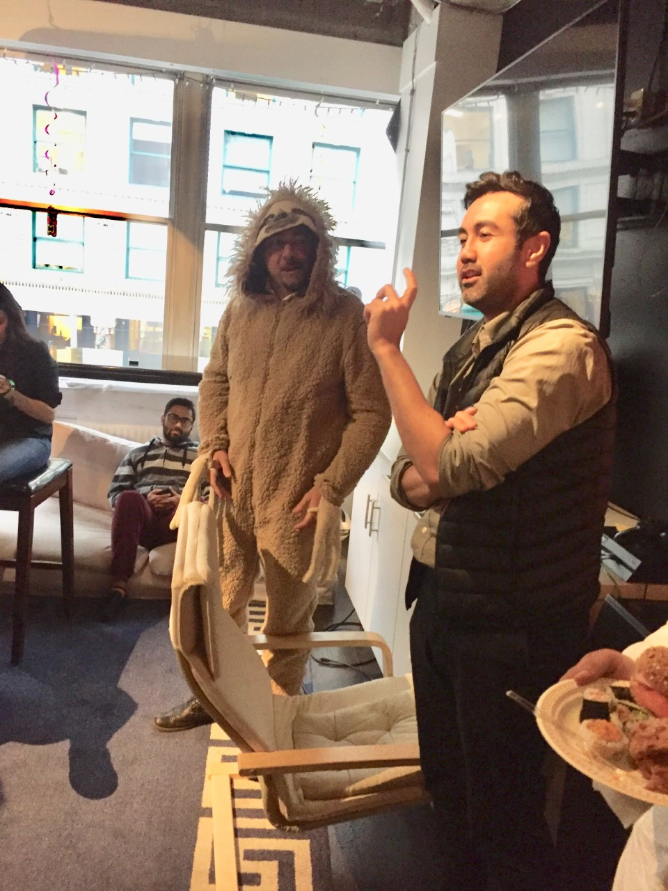 Rob and Aman Procurify Sloth